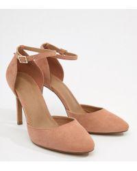 01efaa5d8a71 Lyst - ASOS Playdate Wide Fit High Heels in Metallic