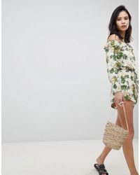 Honey Punch - Bloomer Shorts With Ruffle Hem Co-ord - Lyst