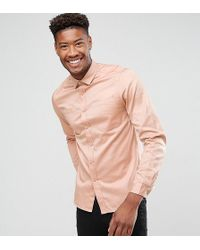 28fe25e7c9 ASOS Overshirt With Double Pockets In Red in Red for Men - Lyst