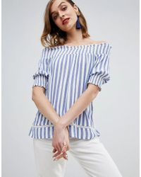 Warehouse - Stripe Cheesecloth Top - Lyst