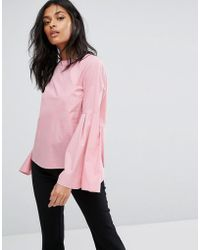 Vero Moda - Flared Sleeve Blouse - Lyst