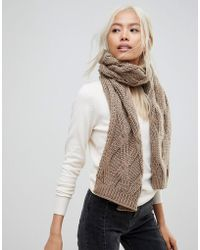 French Connection | Chunky Oatmeal Knitted Scarf | Lyst