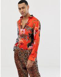 Jaded London - Bedrucktes, langrmliges Hemd - Lyst