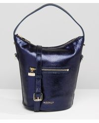 Modalu - Leather Mini Hobo Bag - Ink Navy Met - Lyst