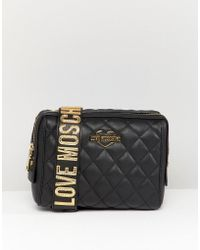Love Moschino - Quilted Shoulder Bag With Chunky Strap - Lyst