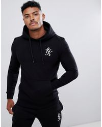01c6a0fab392 ASOS. Gym King Sudadera ajustada en negro con capucha y logo