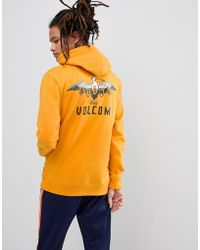 Volcom - Hoodie With Pelican Back Print - Lyst