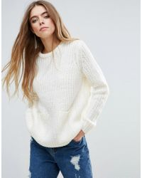 First & I - Front Pocket Knitted Jumper - Lyst