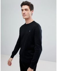 Polo Ralph Lauren - Pima Cotton Knit Jumper Crew Neck Polo Player In Black - Lyst