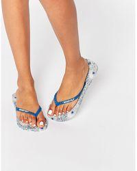 Gandys - Hera Blue Strap Flip Flops - Lyst