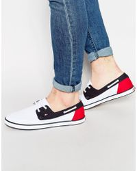Tommy Hilfiger - Harlow Canvas Boat Shoes - Lyst