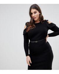 448ccdfa7e26e Lyst - Versace Jeans Fit And Flare Mini Dress in Black