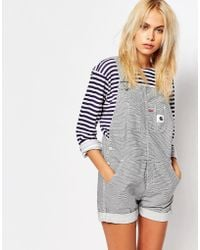 Carhartt WIP - Carhartt Dungaree Playsuit In Hickory Stripe - Lyst