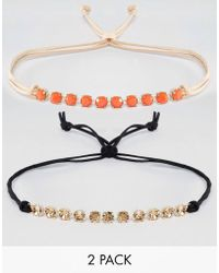 Krystal - Pack Of 2 Swarovski Crystal Choker Necklaces - Lyst