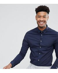 ASOS - Tall Skinny Formal Work Shirt With Dobbie Texture - Lyst