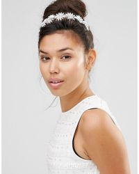 Krystal - Swarovski Crystal 6 Daisy Headband Tiara - Lyst