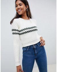 Bellfield - Chunky Stripe Knitted Jumper - Lyst