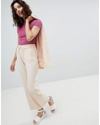 Monki - Straight Trousers - Lyst