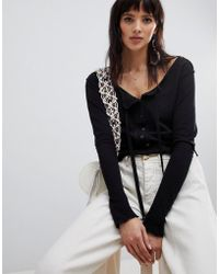 Free People - Cecelia Button Front Long Sleeved Top - Lyst
