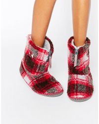 Bedroom Athletics - Macgraw Checked Slipper Boot - Lyst