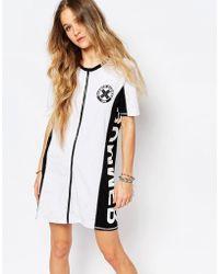 Vans - Summer Nummer Zip Front T-shirt Dress - Lyst