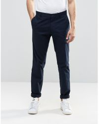 Vito - Skinny Cotton Suit Trousers - Lyst