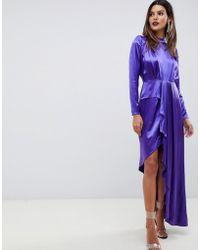 ASOS - Asymmetric Soft Cocktail Dress - Lyst