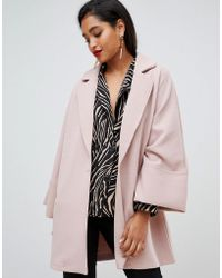 Vila - Oversized Coat With Wide Sleeves - Lyst