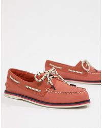 Sperry Top-Sider - Topsider Nautical Boat Shoes In Red - Lyst