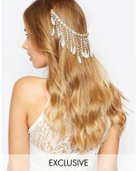 Olivia The Wolf - Livia The Wolf Fringe Lace Hair Comb - Lyst