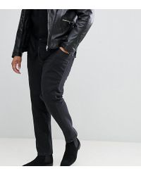 ASOS DESIGN - Plus Skinny Twisted Seam Jeans In Black - Lyst