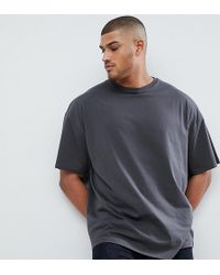 fe319331 ASOS Oversized T-shirt With Raw Edge Turtle Neck in White for Men - Lyst