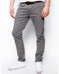 Farah - Drake Slim Fit Jean In Grey Twill - Lyst