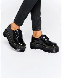 Dr. Martens - Holly Ribbon Flatform Shoes - Black Patent Lamper - Lyst
