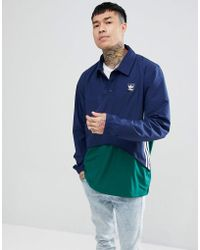 adidas Originals - Pullover Jacket In Navy Ce1810 - Lyst