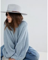 Natural Floppy Hat Braid Band.  26. ASOS · Brixton - Structured Hat In Grey  With Metal Band - Lyst cb4dc267d3d1