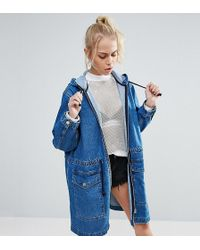 Chorus - Washed Denim Parka - Lyst