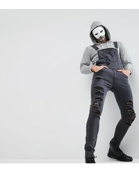 Liquor N Poker - Extreme Distressed Ripped Dungaree - Lyst