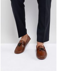 Ted Baker - Urbonn Leather Drivers In Tan - Lyst