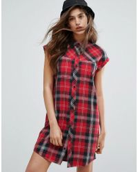 Carhartt WIP - Leila Sleeveless Tartan Shirt Dress - Lyst