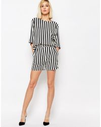 SELECTED - Aliva Striped Shorts - Lyst