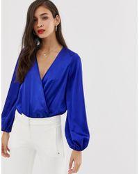 84adb5db0b082 ASOS Cold Shoulder T-Shirt in Natural - Lyst
