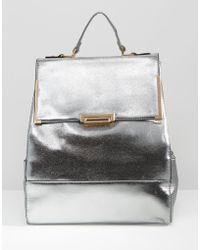 Liquorish - Metallic Backpack - Lyst