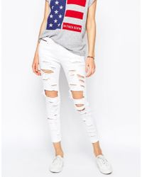 Hilfiger Denim - Naomi Mid Rise Slim Jeans With All Over Rips - Lyst