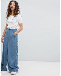 Daisy Street - Wide Leg Trousers In Cord - Lyst