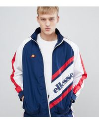 Ellesse - Track Jacket With Panel Logo In Navy - Lyst