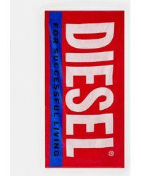 DIESEL - Telo mare rosso con logo - Lyst