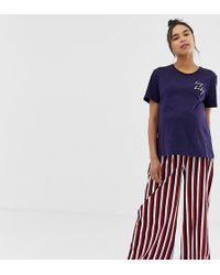 745598c638221 ASOS - Asos Design Maternity Hey Baby Pyjama Stripe Trouser Set - Lyst