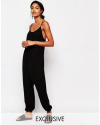 Nocozo - Relaxed Jumpsuit With Rouched Neck - Lyst