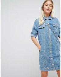 Wrangler - Denim Trucker Dress - Lyst